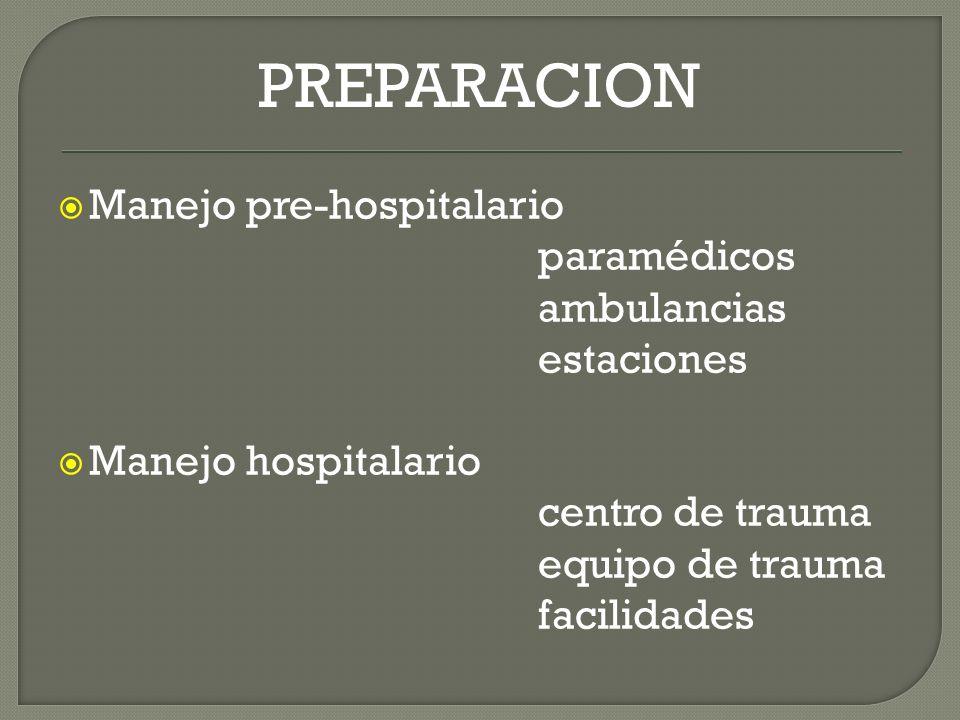 PREPARACION Manejo pre-hospitalario paramédicos ambulancias estaciones