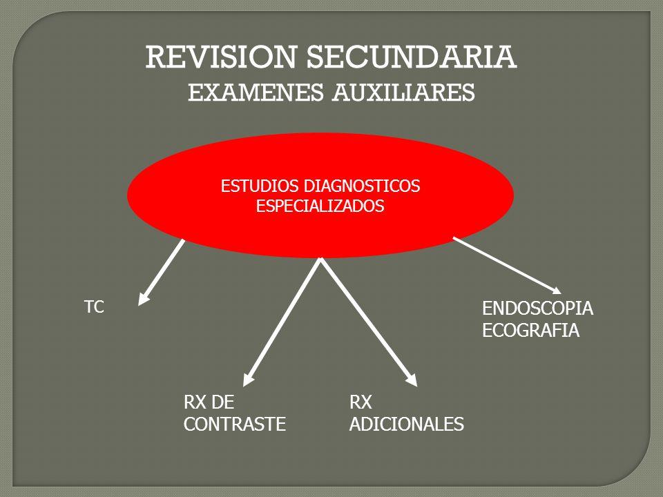 REVISION SECUNDARIA EXAMENES AUXILIARES