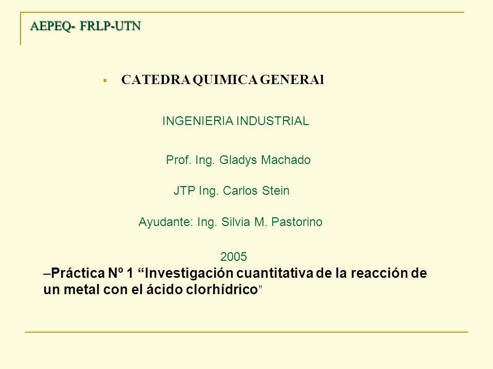 CATEDRA QUIMICA GENERAl