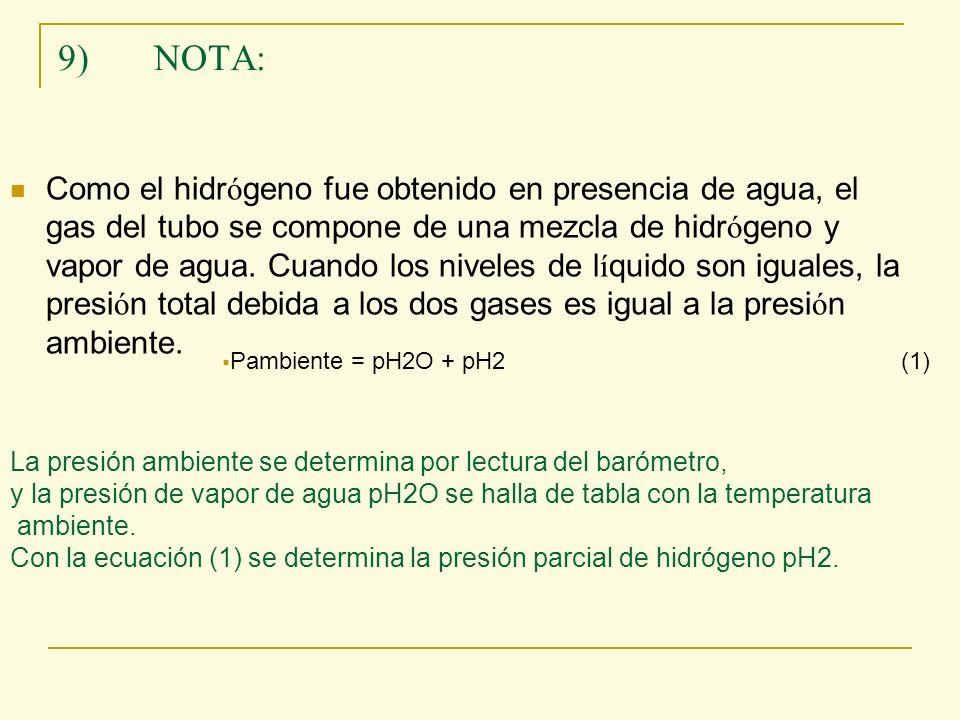 9) NOTA: