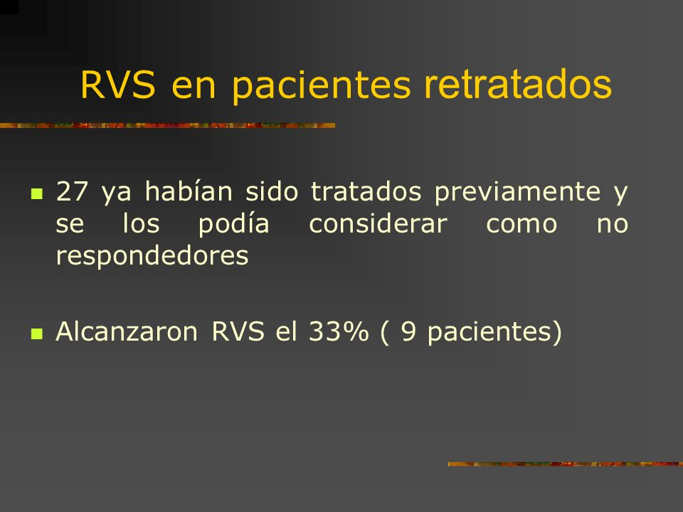 RVS en pacientes retratados