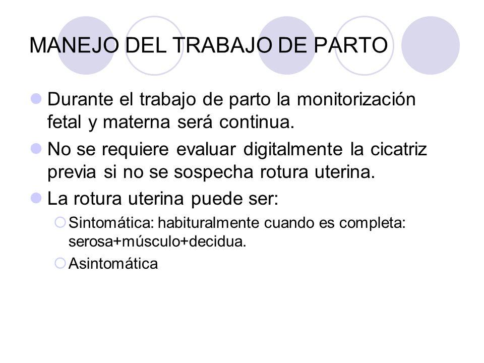 MANEJO DEL TRABAJO DE PARTO