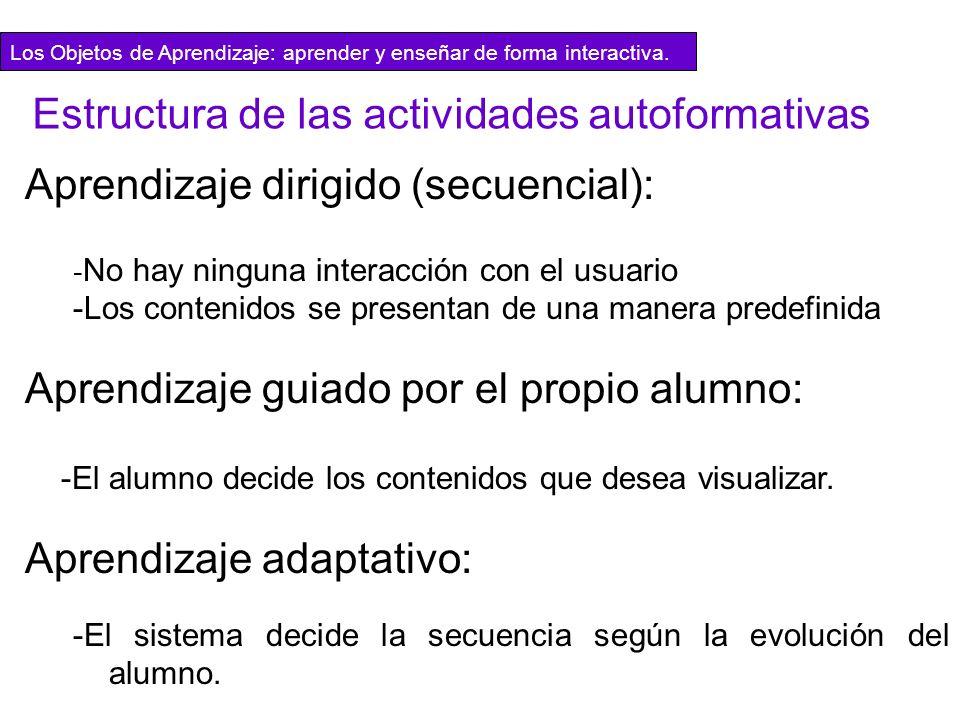 Estructura de las actividades autoformativas