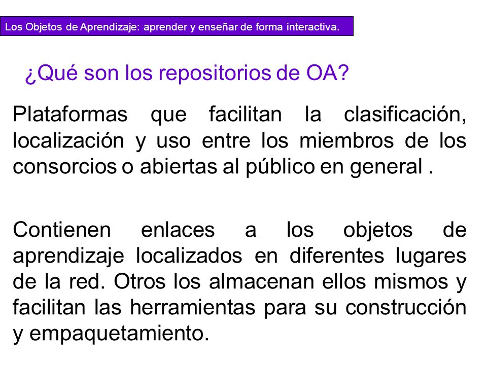 ¿Qué son los repositorios de OA