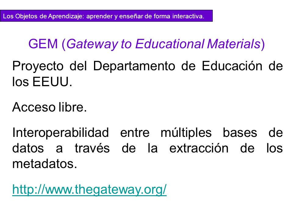 GEM (Gateway to Educational Materials)