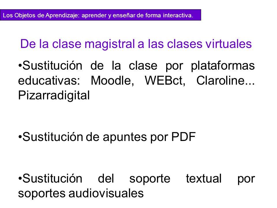 De la clase magistral a las clases virtuales