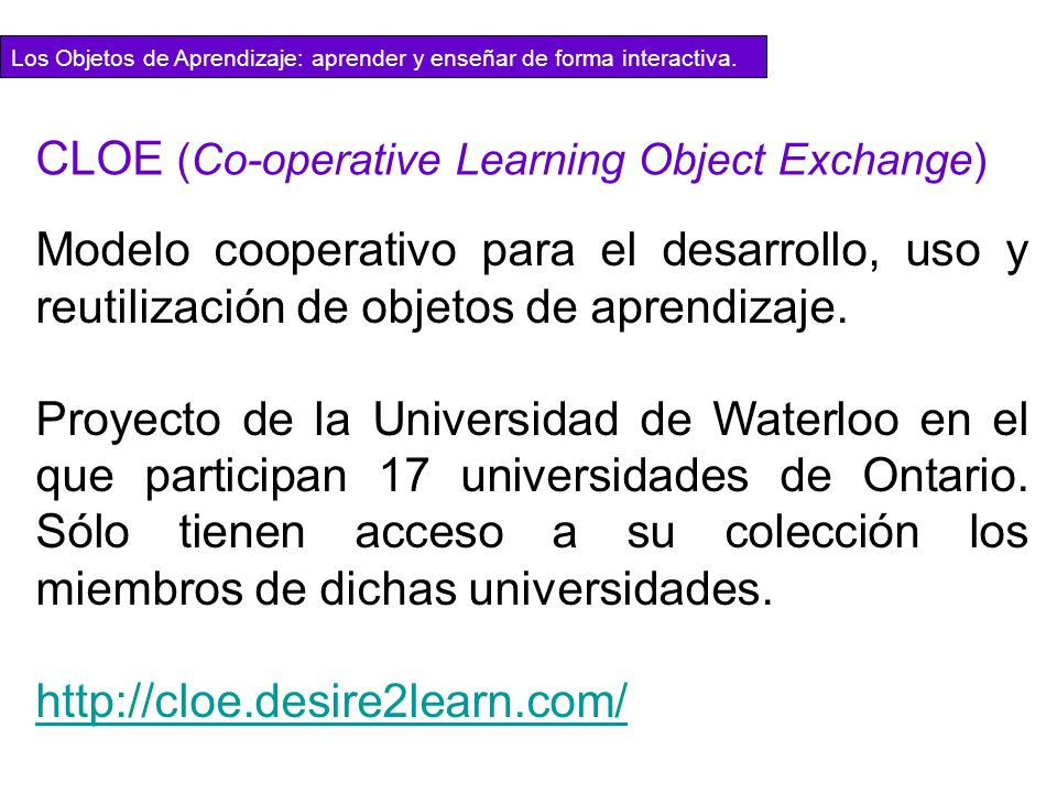 CLOE (Co-operative Learning Object Exchange)