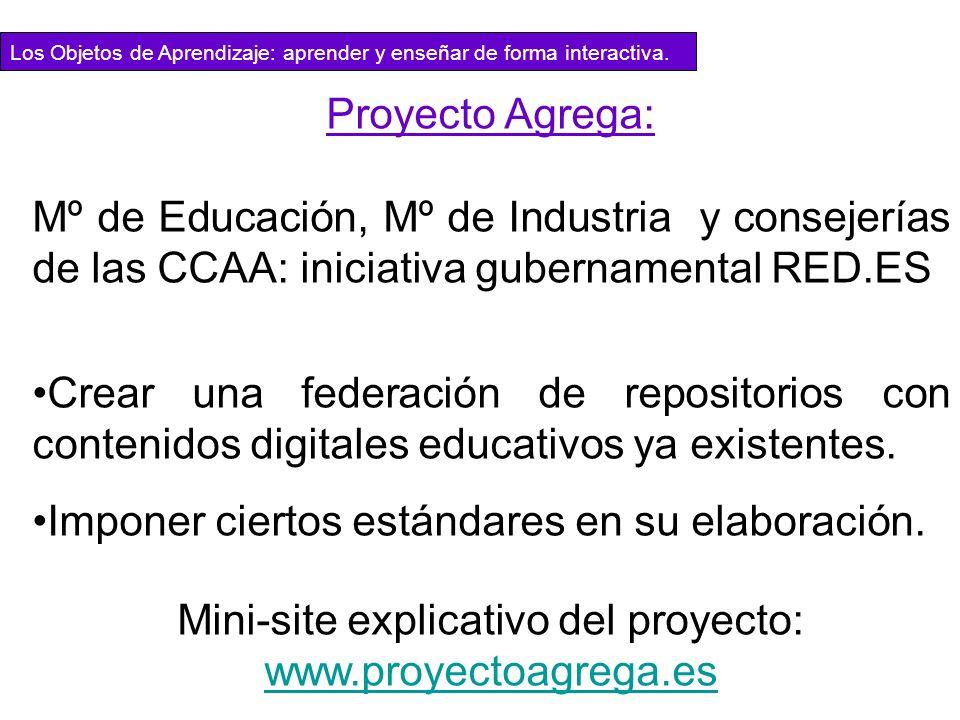 Mini-site explicativo del proyecto: www.proyectoagrega.es