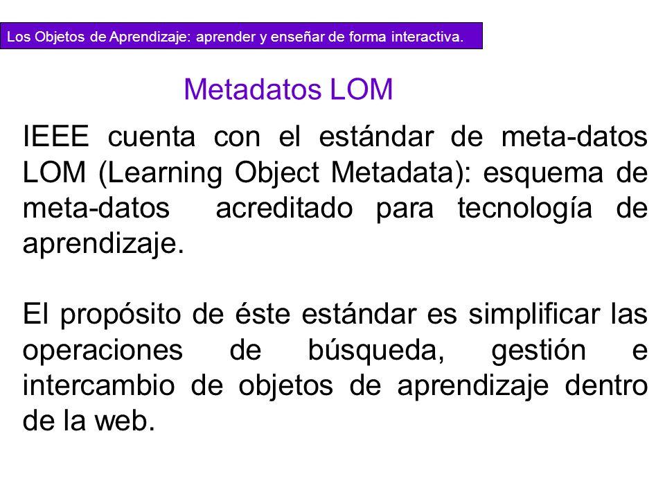 Los Objetos de Aprendizaje: aprender y enseñar de forma interactiva.