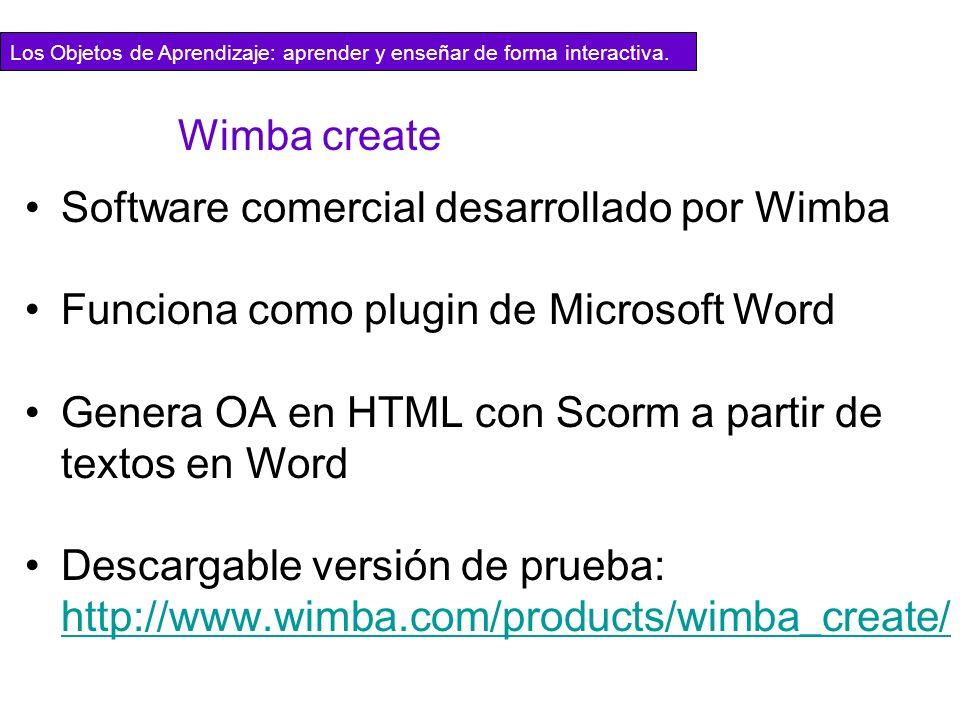 Software comercial desarrollado por Wimba