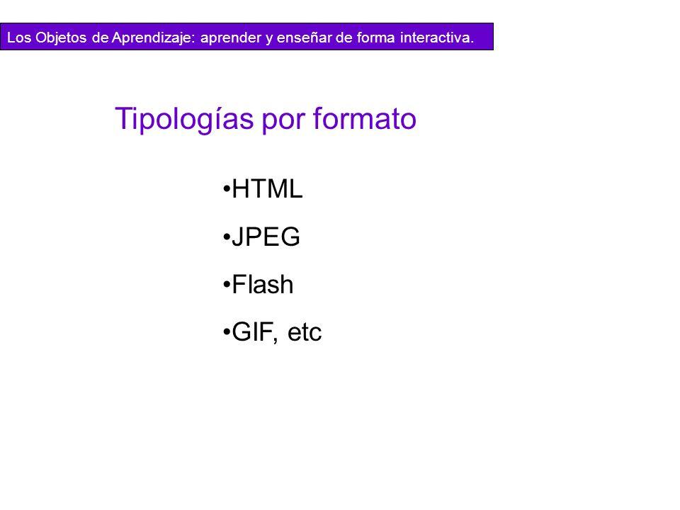 Tipologías por formato