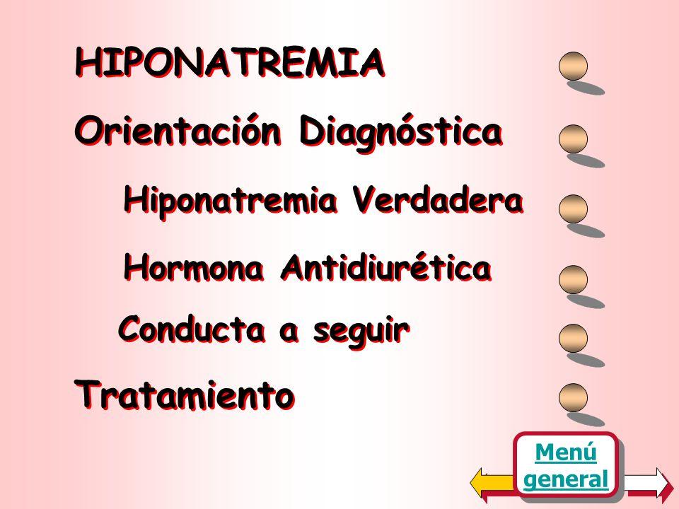 Orientación Diagnóstica Hiponatremia Verdadera Hormona Antidiurética