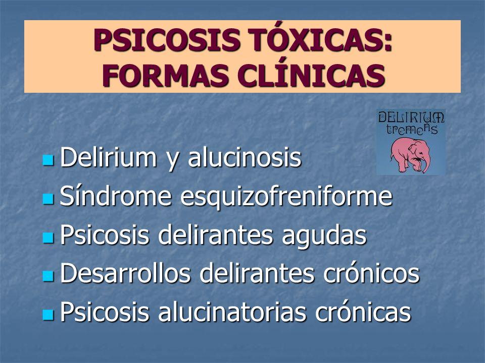 PSICOSIS TÓXICAS: FORMAS CLÍNICAS