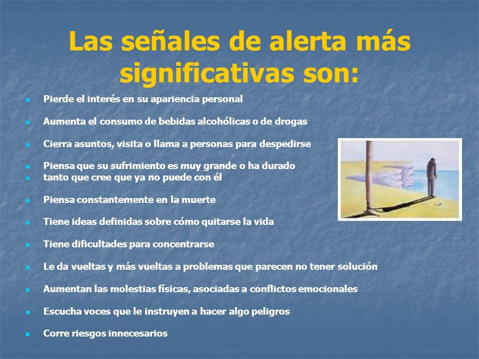 Las señales de alerta más significativas son: