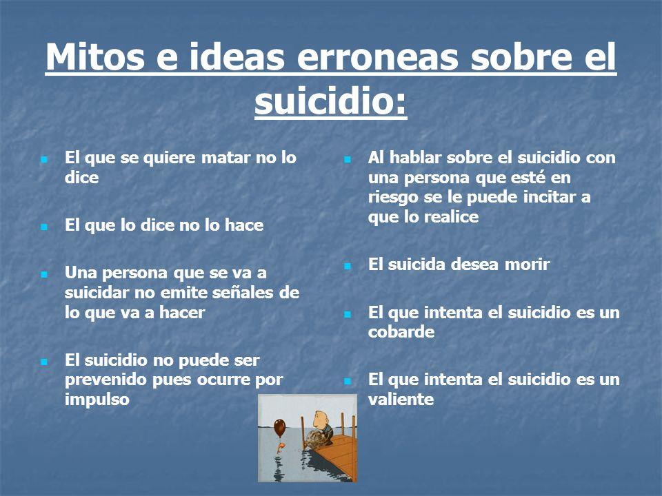 Mitos e ideas erroneas sobre el suicidio: