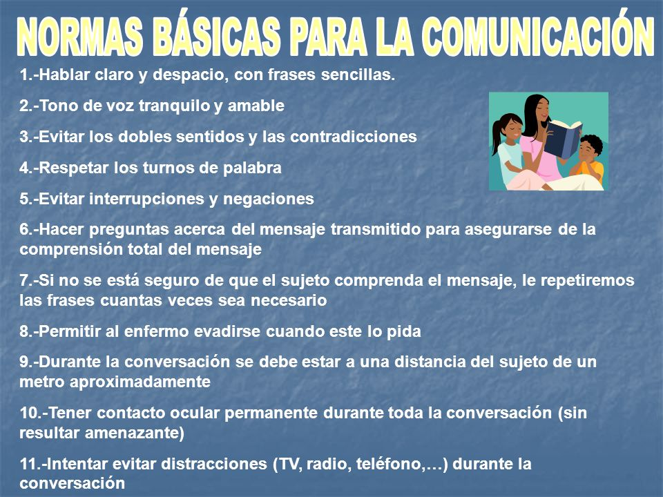 NORMAS BÁSICAS PARA LA COMUNICACIÓN