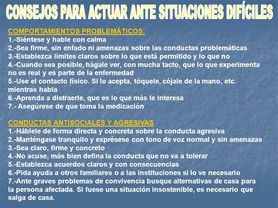 CONSEJOS PARA ACTUAR ANTE SITUACIONES DIFÍCILES