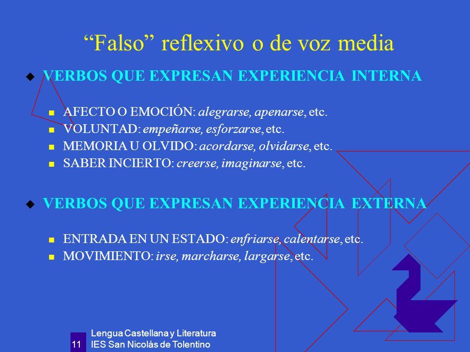 Falso reflexivo o de voz media