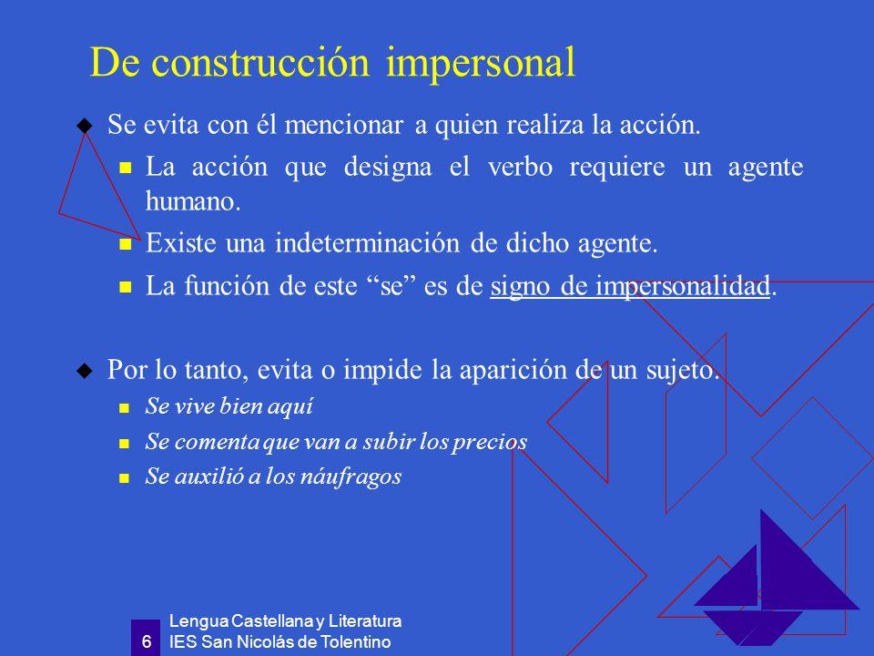 De construcción impersonal