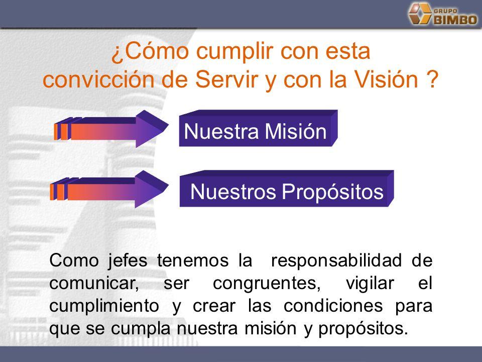 convicción de Servir y con la Visión