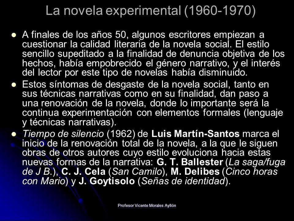 La novela experimental (1960-1970)