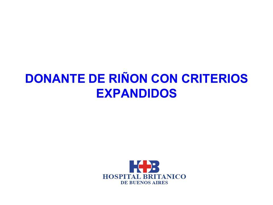 DONANTE DE RIÑON CON CRITERIOS EXPANDIDOS