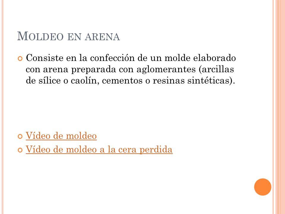 Moldeo en arena