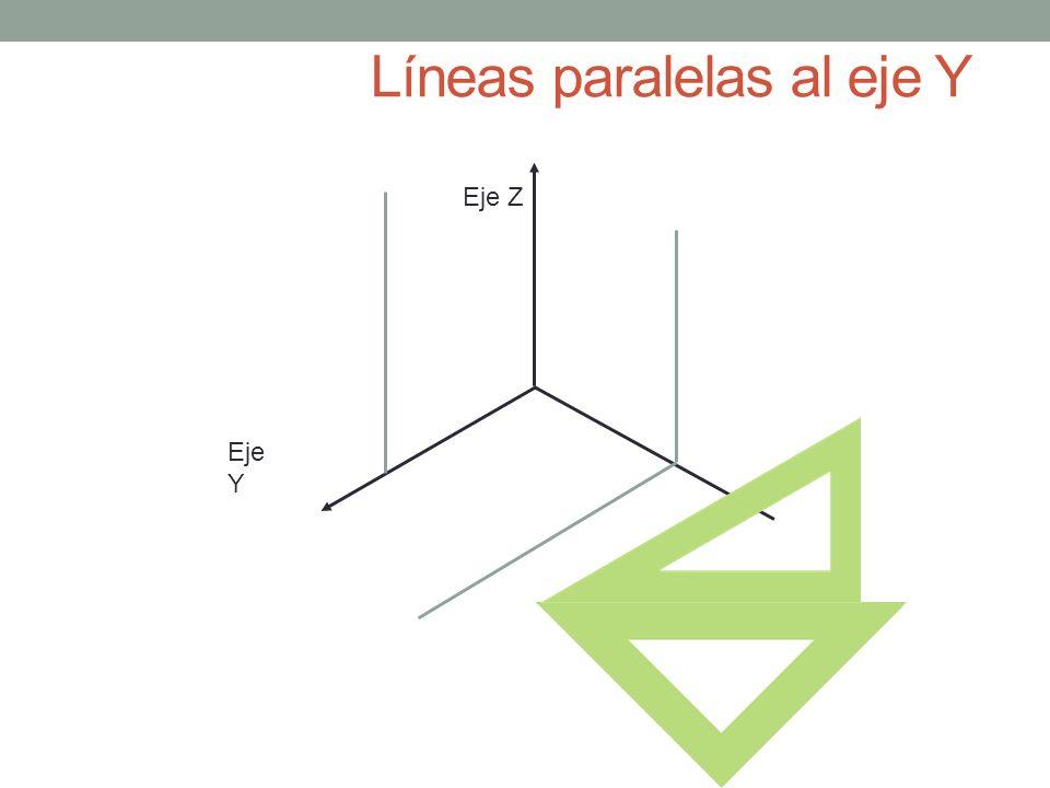 Líneas paralelas al eje Y