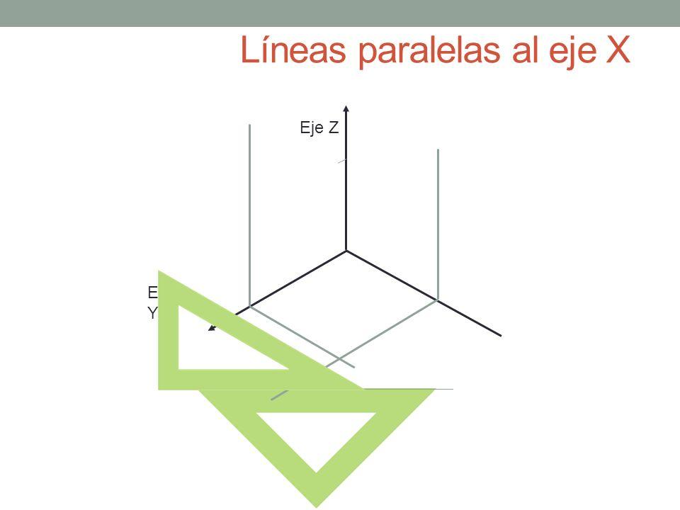 Líneas paralelas al eje X