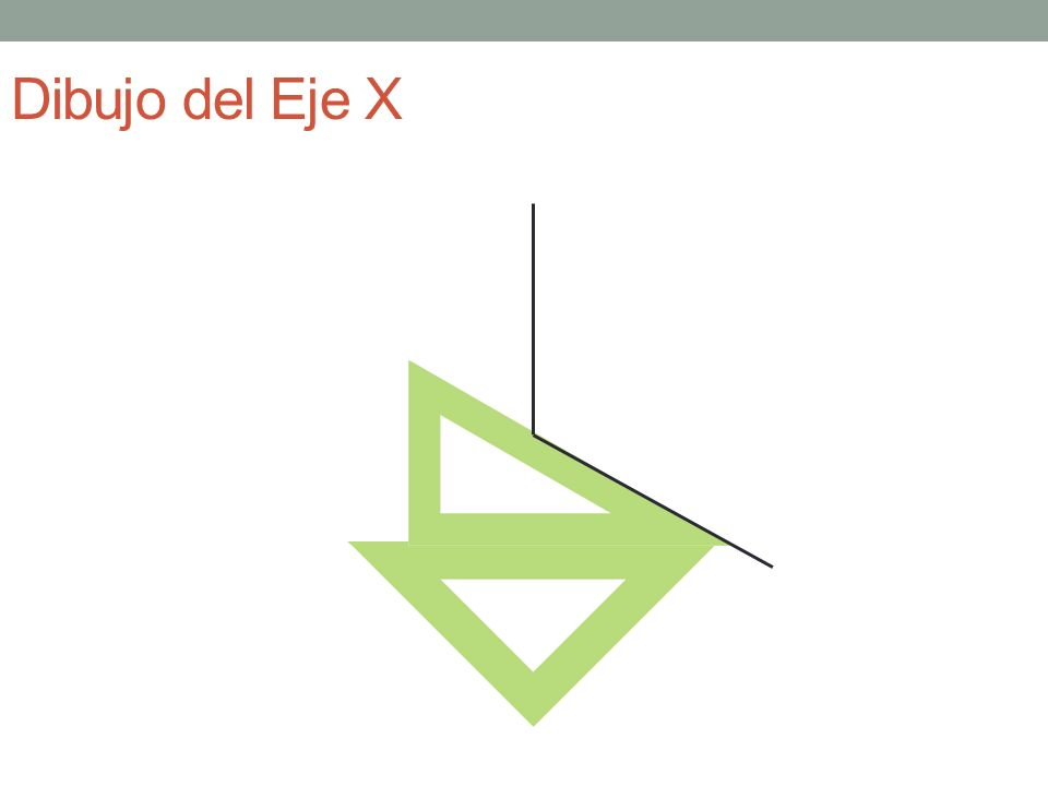 Dibujo del Eje X