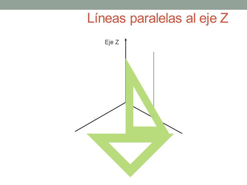 Líneas paralelas al eje Z