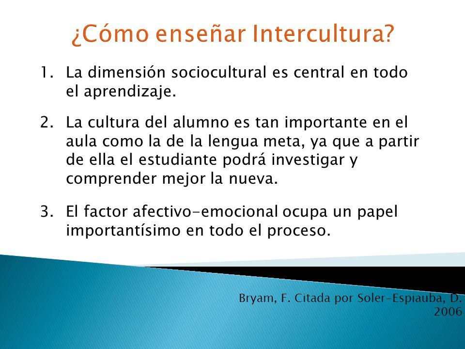 ¿Cómo enseñar Intercultura
