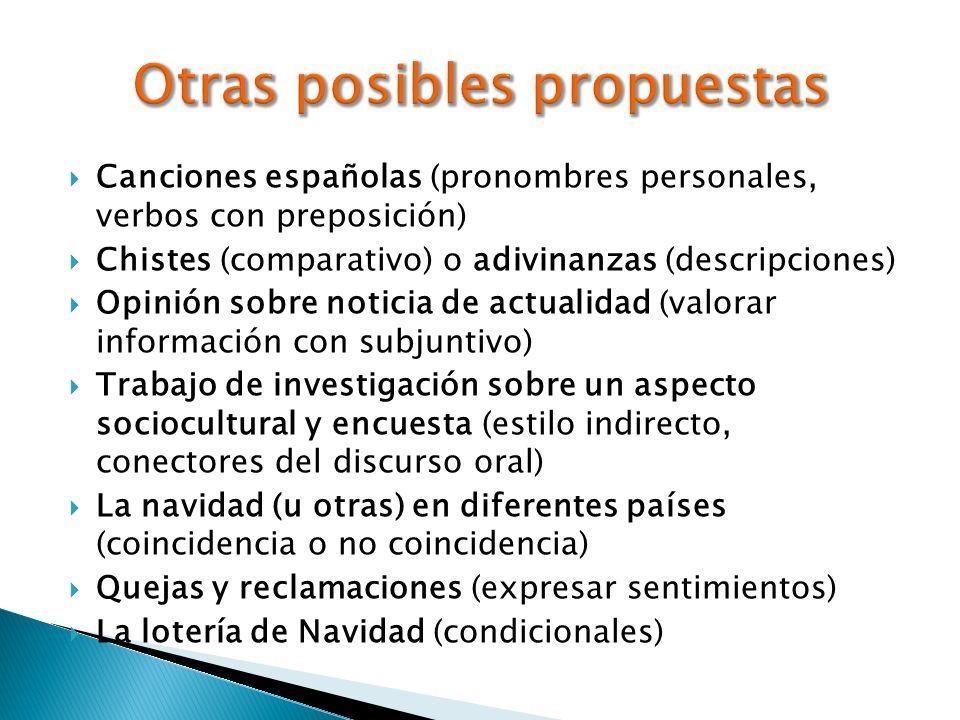 Otras posibles propuestas