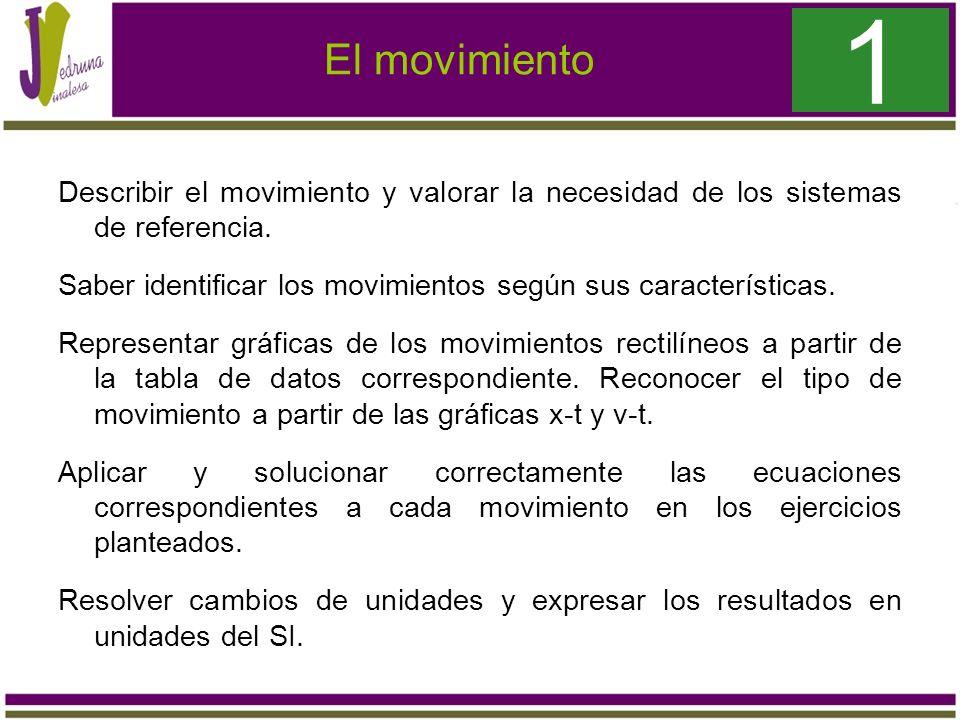 1 El movimiento.