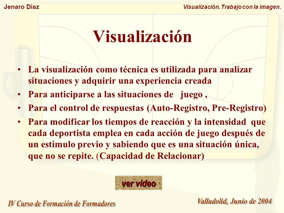Visualización La visualización como técnica es utilizada para analizar situaciones y adquirir una experiencia creada.