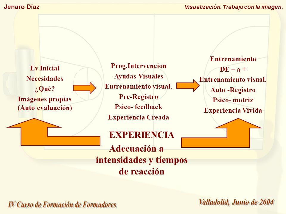EXPERIENCIA Adecuación a intensidades y tiempos de reacción