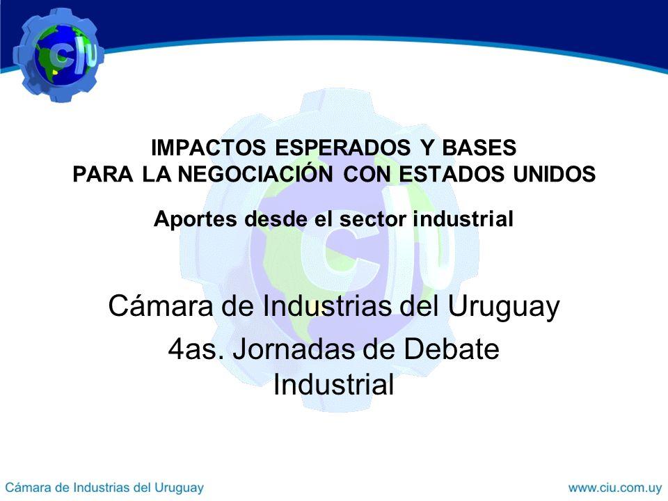 Cámara de Industrias del Uruguay 4as. Jornadas de Debate Industrial