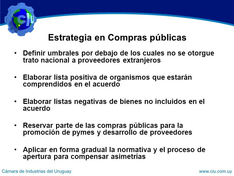 Estrategia en Compras públicas