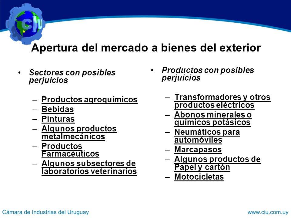 Apertura del mercado a bienes del exterior