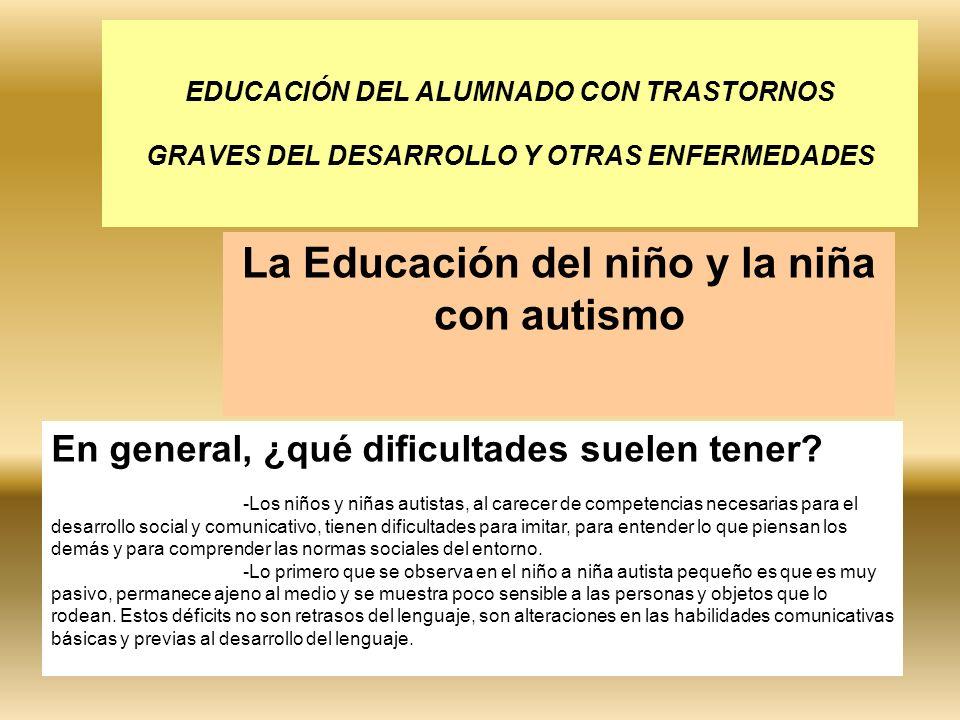La Educación del niño y la niña con autismo