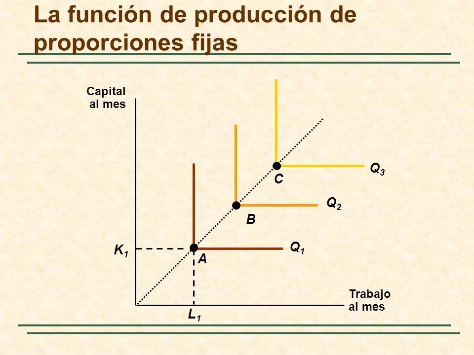 La función de producción de proporciones fijas
