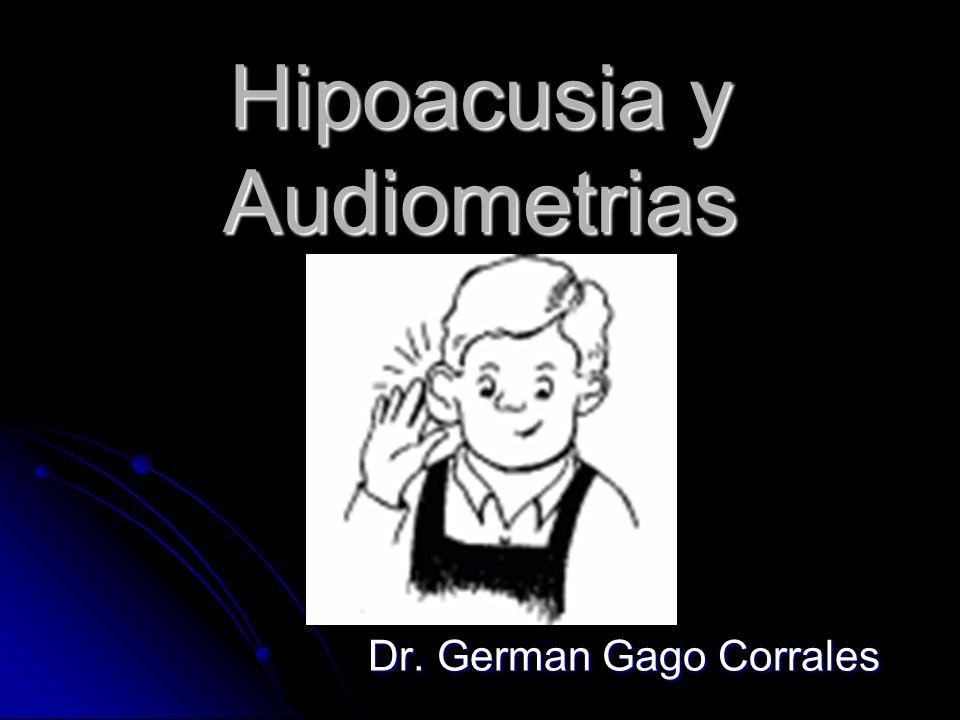 Hipoacusia y Audiometrias