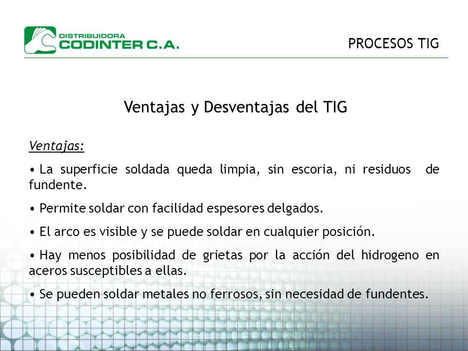 Ventajas y Desventajas del TIG