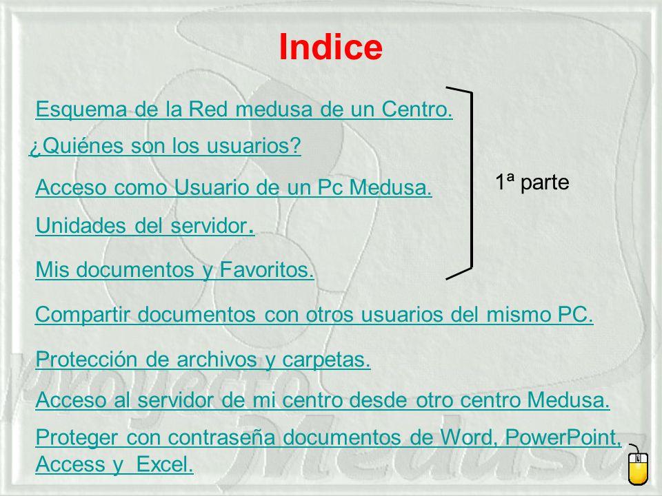 Indice Esquema de la Red medusa de un Centro.