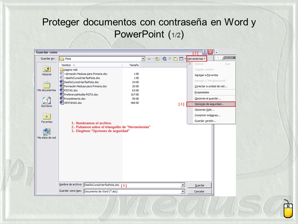 Proteger documentos con contraseña en Word y PowerPoint (1/2)
