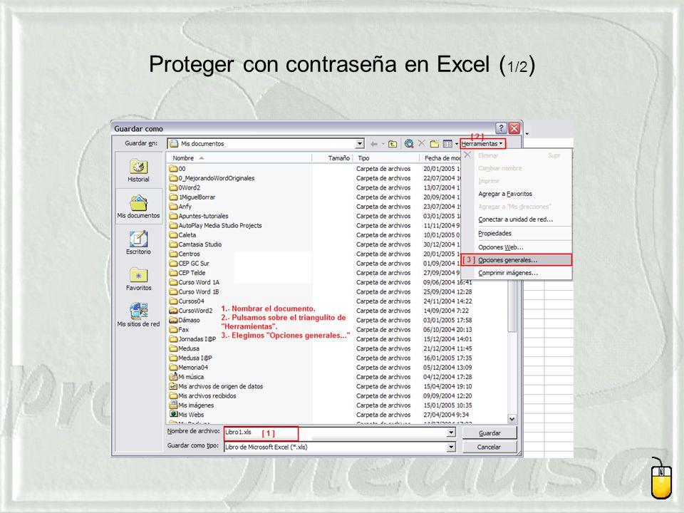 Proteger con contraseña en Excel (1/2)