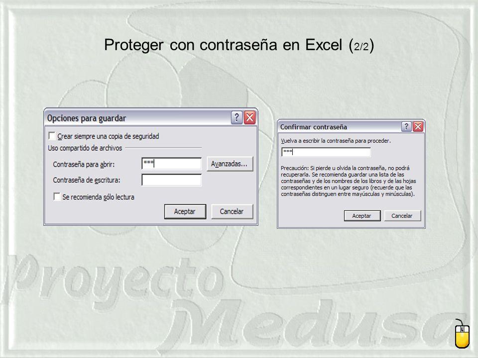 Proteger con contraseña en Excel (2/2)