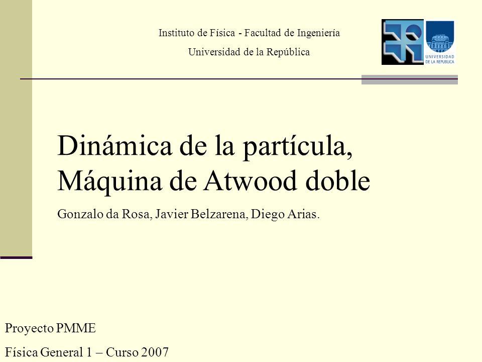 Dinámica de la partícula, Máquina de Atwood doble