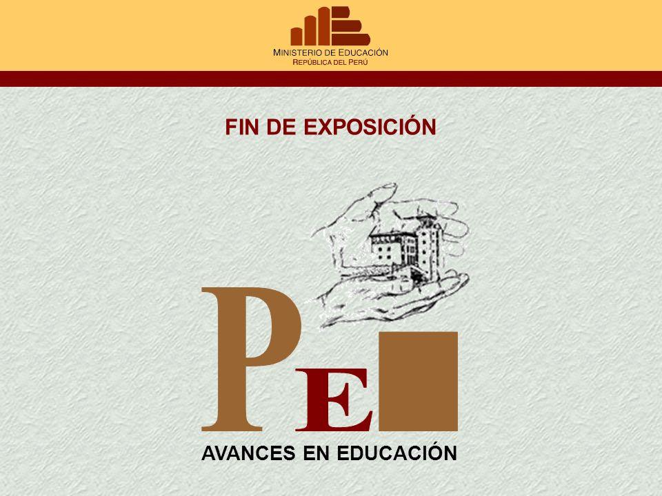 FIN DE EXPOSICIÓN P E I AVANCES EN EDUCACIÓN