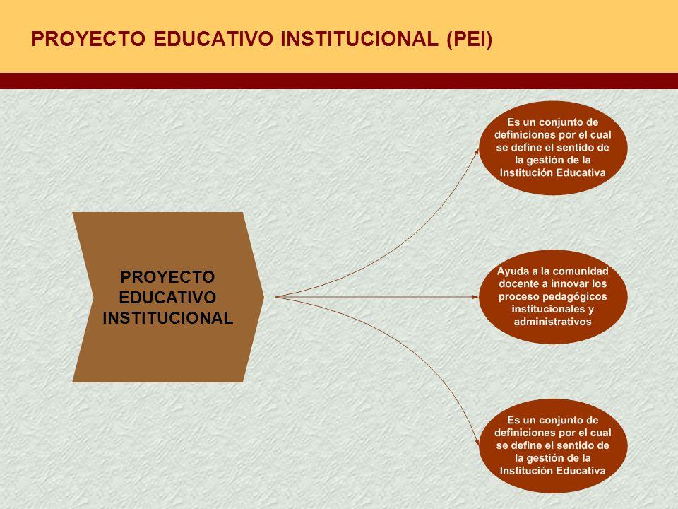 PROYECTO EDUCATIVO INSTITUCIONAL (PEI)